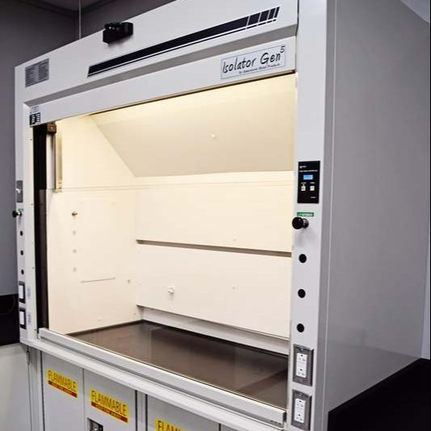 Fume Hood Service Air Velocity Readings and Control Calibration